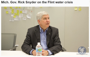 Michigan Governor Rick Snyder Flint Michigan Water