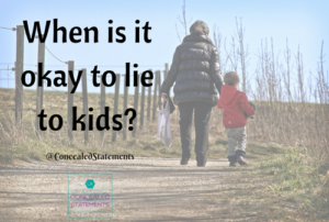 Adults lying to kids